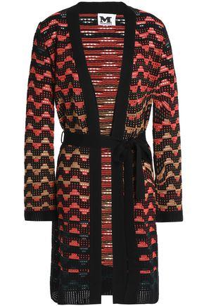 M MISSONI Belted open-knit wool-blend cardigan