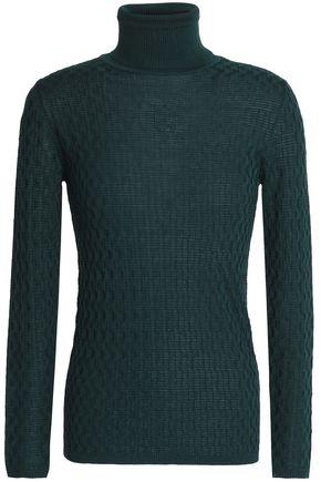 M MISSONI Jacquard-knit wool turtleneck sweater