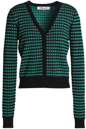 DIANE VON FURSTENBERG Jacquard-knit cardigan