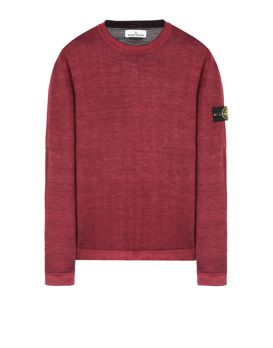 STONE ISLAND Long sleeve jumper 571A8 FAST DYE + AIR BRUSH