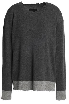 RTA Metallic-trimmed cashmere sweater