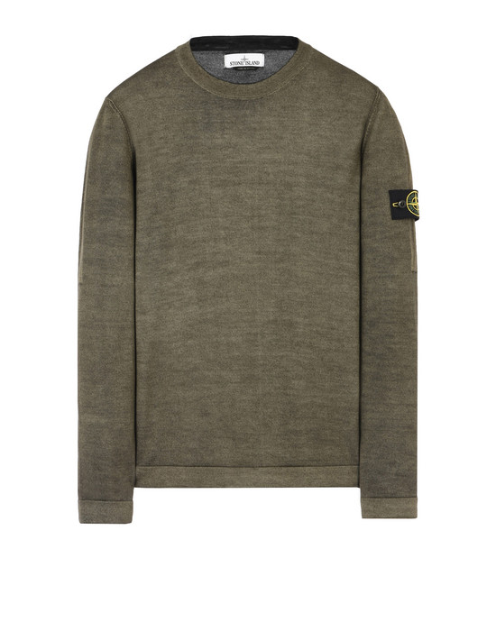 STONE ISLAND Long sleeve sweater 571A8 FAST DYE + AIR BRUSH