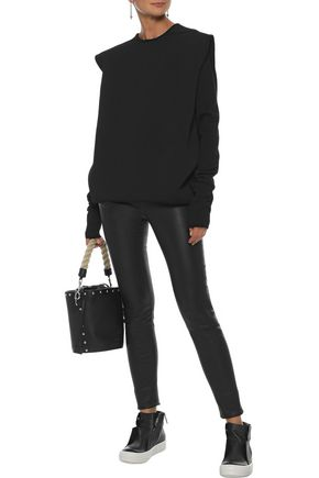 RICK OWENS Layered stretch-knit and jersey top