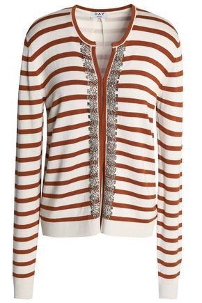 DAY BIRGER ET MIKKELSEN Embellished striped knitted cardigan