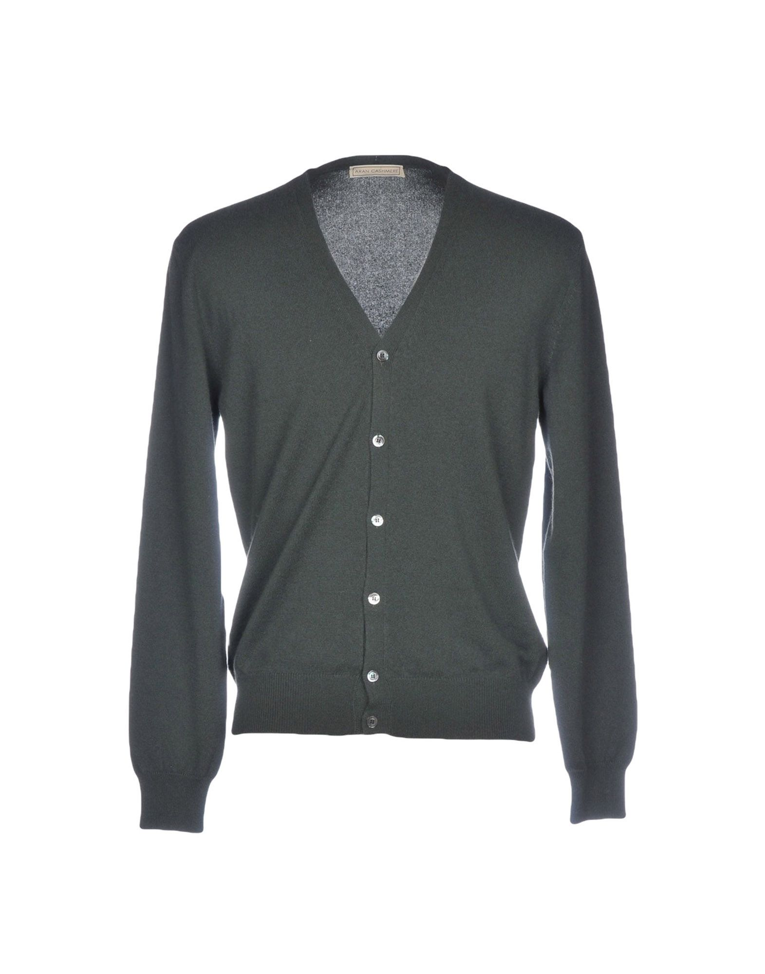 ARAN CASHMERE Cardigan in Military Green