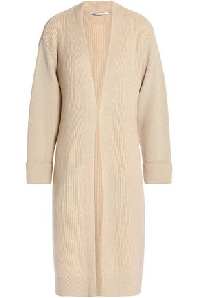 AGNONA Ribbed wool and cashmere-blend cardigan