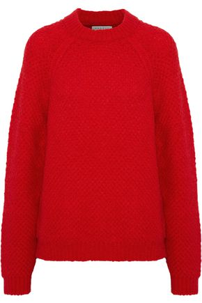 SANDRO Judie brushed bouclé-knit mohair-blend sweater