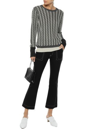 BY MALENE BIRGER Bilijean metallic jacquard-knit sweater