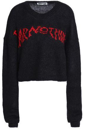 McQ Alexander McQueen Intarsia mohair-blend sweater