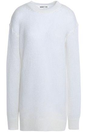 McQ Alexander McQueen Open-knit mohair-blend sweater