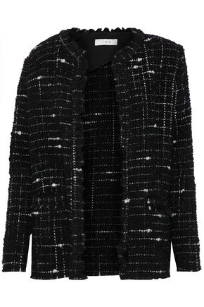 IRO Frayed bouclé-tweed blazer