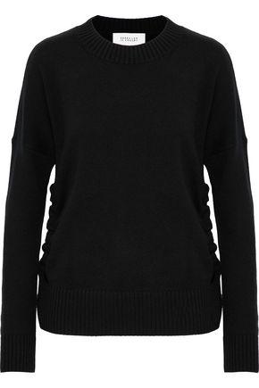 DEREK LAM 10 CROSBY Tie-detailed cashmere sweater