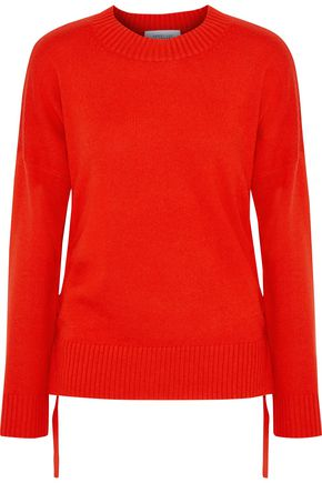 DEREK LAM 10 CROSBY Tie-detailed cashmere sweater