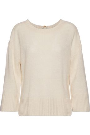 DEREK LAM 10 CROSBY Tie-back linen and cashmere-blend sweater