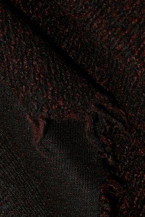 IRO Frayed mélange knitted jacket