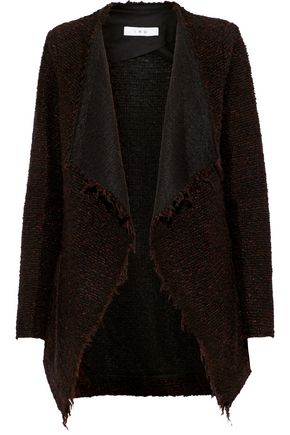 IRO Frayed mélange knitted jacket