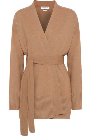 SANDRO Elina wool and cashmere-blend wrap cardigan
