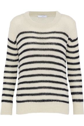 IRO Somk striped open-knit sweater