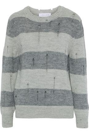 IRO Stys distressed striped intarsia-knit sweater