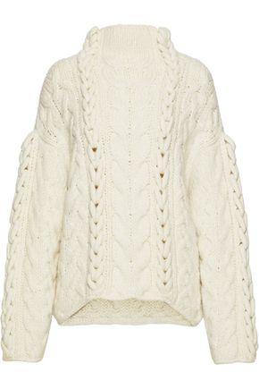 IRO Nijyn oversized cable-knit alpaca-blend sweater