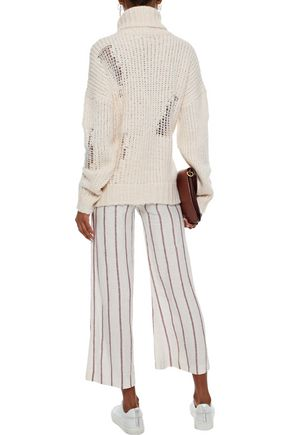 IRO Dalos open-knit turtleneck sweater