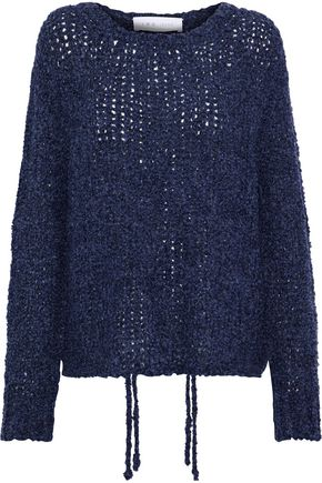 IRO Crescent bouclé open-knit sweater