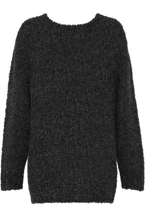 IRO Tie-detailed open-knit bouclé sweater
