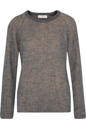 IRO Brauw two-tone ribbed stretch-knit sweater