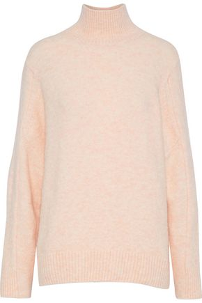 MAJE Brushed knitted turtleneck sweater