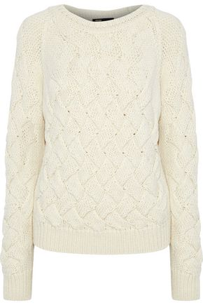 MAJE Mezany cable-knit sweater