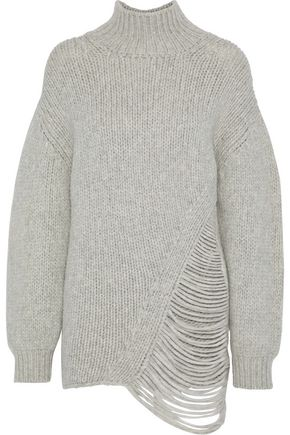 IRO Vasen distressed wool-blend turtleneck sweater