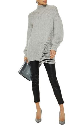 IRO Vasen distressed wool-blend turtleneck sweater