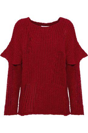 IRO Dafnae ruffle-trimmed open-knit sweater