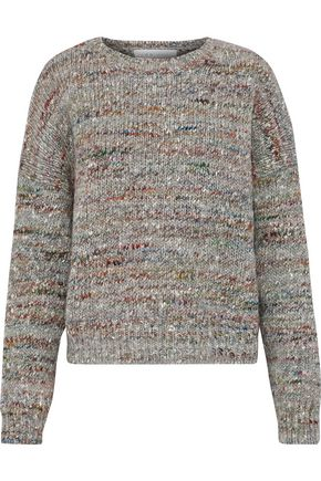 IRO Mélange ribbed wool, alpaca and silk-blend sweater