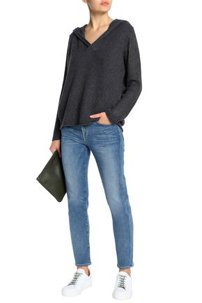 JAMES PERSE Mélange cashmere hooded sweater