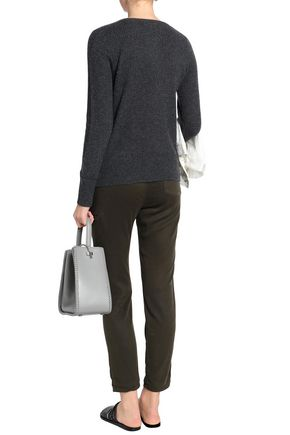 JAMES PERSE Waffle-knit cashmere sweater