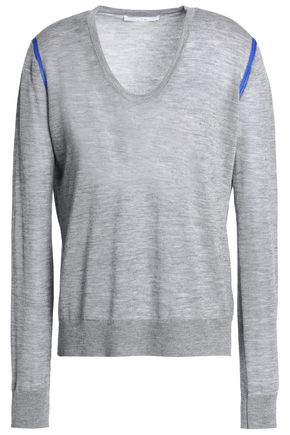 DUFFY Cashmere and merino wool-blend sweater