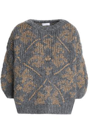 BRUNELLO CUCINELLI Cashmere-blend jacquard sweater