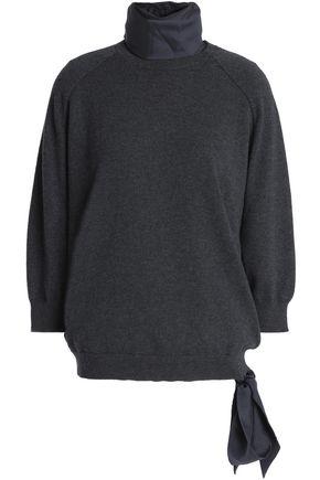 BRUNELLO CUCINELLI Layered cashmere and silk-blend turtleneck sweater