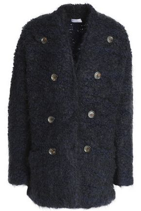 BRUNELLO CUCINELLI Button-embellished wool, cashmere and silk-blend bouclé-knit jacket