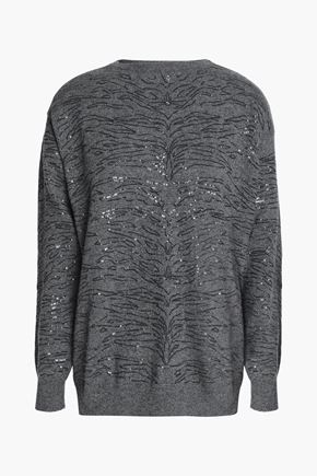 BRUNELLO CUCINELLI Sequin-embellished cashmere sweater