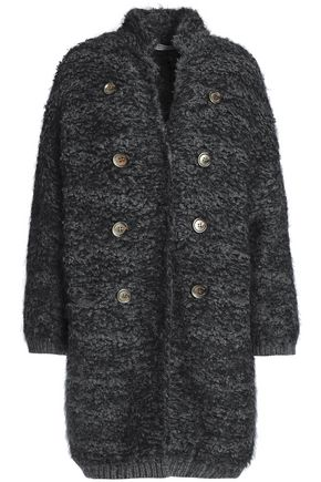 BRUNELLO CUCINELLI Button-embellished cashmere-blend bouclé-knit jacket