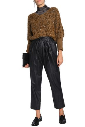 BRUNELLO CUCINELLI Sequin-embellished bouclé-knit sweater