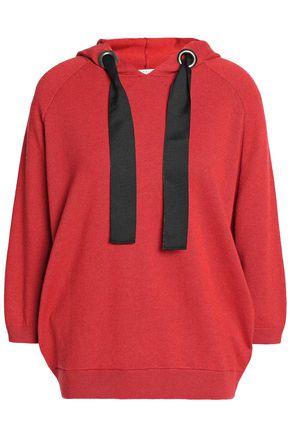 BRUNELLO CUCINELLI Bead-embellished cashmere hooded sweatshirt
