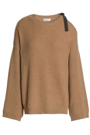 BRUNELLO CUCINELLI Cutout ribbed cashmere sweater