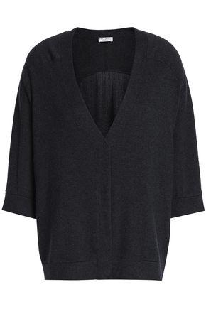 BRUNELLO CUCINELLI Fringed bead-embellished cashmere cardigan