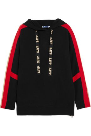SJYP Knitted hooded sweater