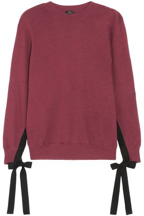 CLU Bow-detailed cotton-jersey sweatshirt