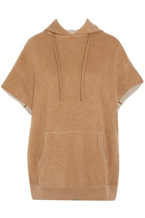 R13 Cotton and camel-hair blend hooded top
