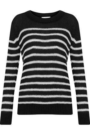 IRO Somk striped open-knit sweater